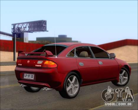 Mazda 323F 1995 para GTA San Andreas traseira esquerda vista
