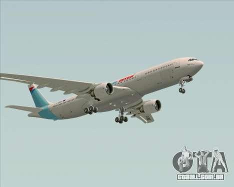 Airbus A330-300 Air Inter para GTA San Andreas vista inferior