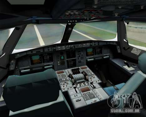 Airbus A380-841 Singapore Airlines para GTA San Andreas vista superior