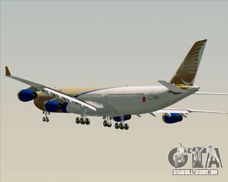 Airbus A340-313 Gulf Air para as rodas de GTA San Andreas