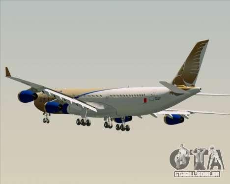 Airbus A340-313 Gulf Air para as rodas de GTA San Andreas