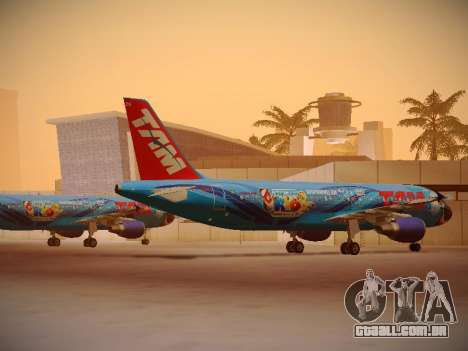 Airbus A320-214 TAM Airlines RIO para GTA San Andreas vista direita