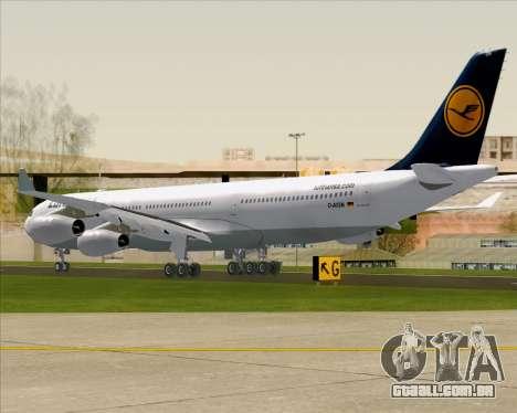 Airbus A340-313 Lufthansa para GTA San Andreas vista direita