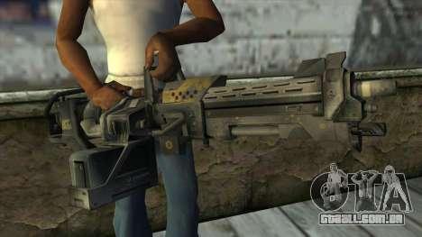 M247 Machine Gun Jorge Of Halo Reach para GTA San Andreas terceira tela