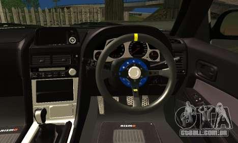 Nissan Skyline GTR R34 para GTA San Andreas traseira esquerda vista