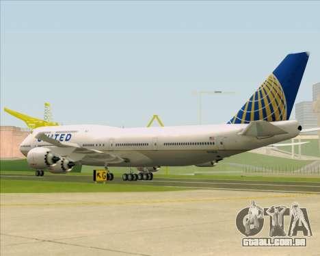 Boeing 747-8 Intercontinental United Airlines para GTA San Andreas vista direita
