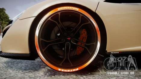 McLaren 650S Spider 2014 [EPM] Bridgestone v1 para GTA 4 vista de volta