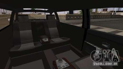 BMW E66 7-Series Limousine para GTA San Andreas traseira esquerda vista
