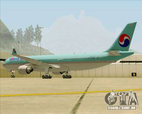 Airbus A330-300 Korean Air para GTA San Andreas vista traseira