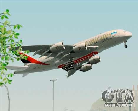 Airbus A380-841 Emirates para GTA San Andreas vista interior