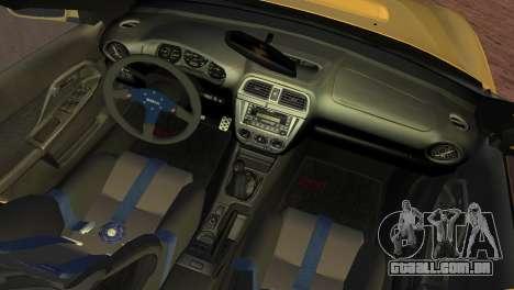 Subaru Impreza WRX 2002 Type 1 para GTA Vice City vista traseira