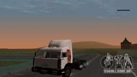 KamAZ-54115 para GTA San Andreas vista interior