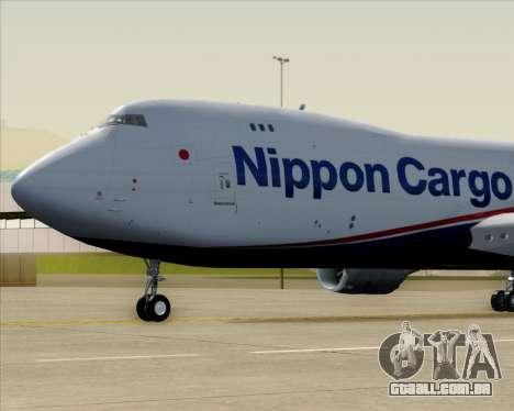 Boeing 747-8 Cargo Nippon Cargo Airlines para GTA San Andreas vista interior