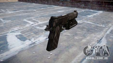 Arma Kimber 1911 Kryptek Typhon para GTA 4 segundo screenshot
