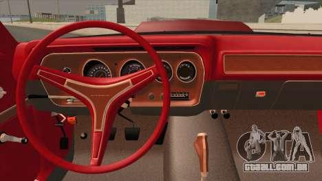 Plymouth GTX Tuned 1972 v2.3 para GTA San Andreas vista traseira