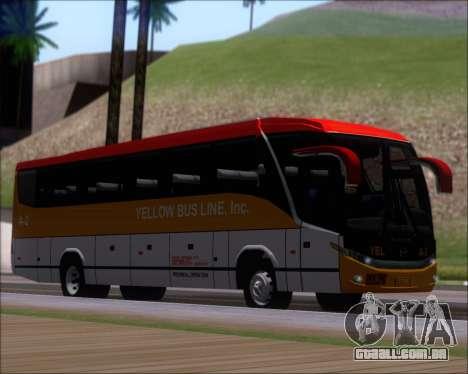 Marcopolo Paradiso G7 1050 Yellow Bus Line A-2 para GTA San Andreas esquerda vista