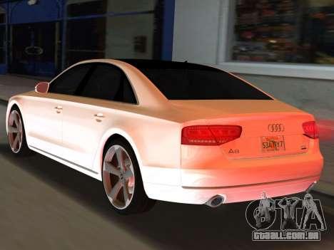 Audi A8 2010 W12 Rim3 para GTA Vice City deixou vista