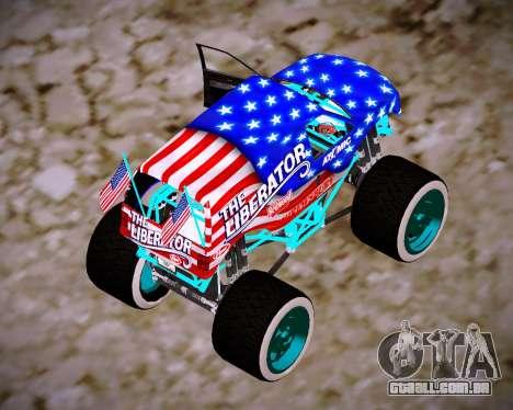 Liberator Online Version (American Flag) para GTA San Andreas esquerda vista