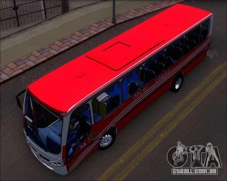 Neobus Spectrum Linea 38 Mcal. Lopez para GTA San Andreas vista interior