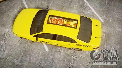 GTA V Vapid Taurus Taxi LCC para GTA 4 vista direita