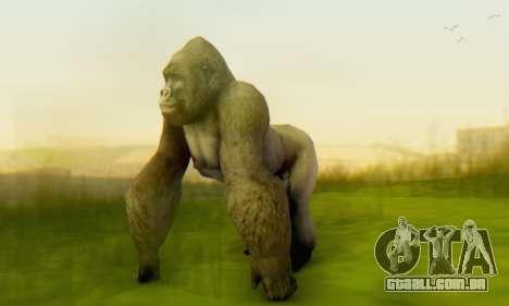 Gorilla (Mammal) para GTA San Andreas por diante tela
