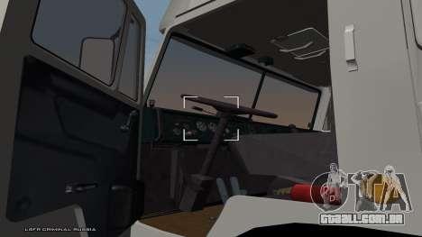 KamAZ-54115 para GTA San Andreas traseira esquerda vista