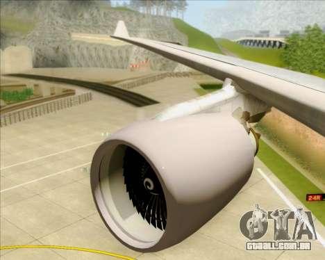 Airbus A330-200 Air China para as rodas de GTA San Andreas