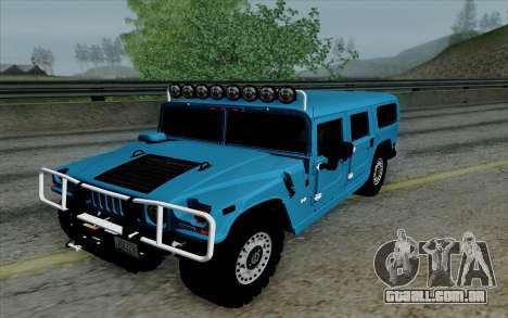 Hummer H1 Alpha 2006 Road version para GTA San Andreas vista traseira