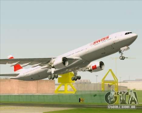 Airbus A330-300 Swiss International Air Lines para GTA San Andreas vista inferior