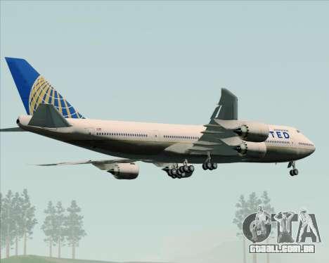 Boeing 747-8 Intercontinental United Airlines para GTA San Andreas vista superior