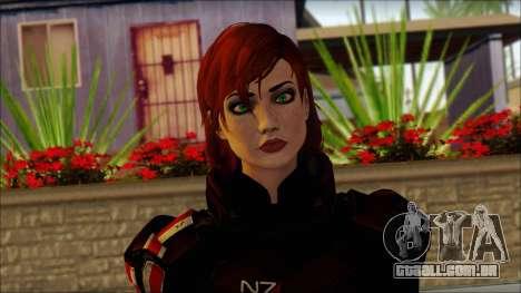 Mass Effect Anna Skin v2 para GTA San Andreas terceira tela