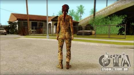 Tomb Raider Skin 10 2013 para GTA San Andreas segunda tela