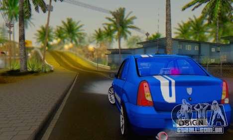 Dacia Logan Tuning Rally (B 48 CUP) para GTA San Andreas vista direita