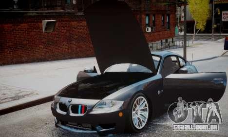 BMW Z4M para GTA 4 traseira esquerda vista