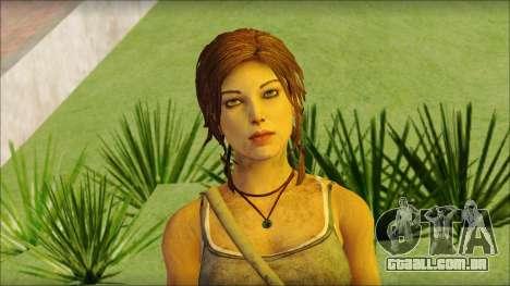 Tomb Raider Skin 12 2013 para GTA San Andreas terceira tela