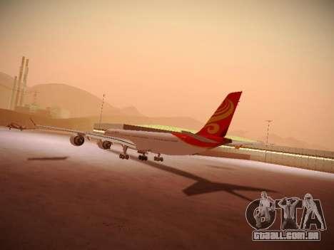 Airbus A340-600 Hainan Airlines para GTA San Andreas vista interior