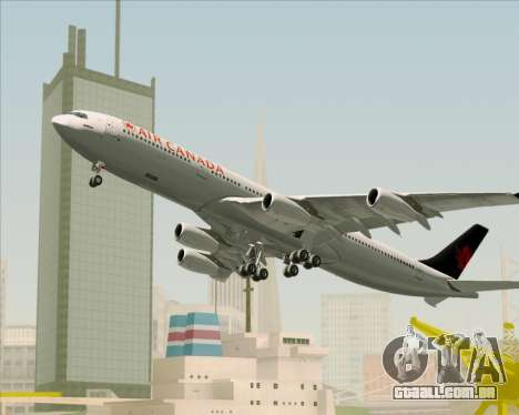 Airbus A340-313 Air Canada para GTA San Andreas vista superior