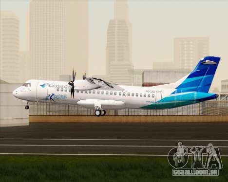 ATR 72-500 Garuda Indonesia Explore para GTA San Andreas vista direita
