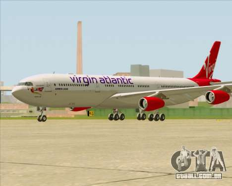Airbus A340-313 Virgin Atlantic Airways para GTA San Andreas vista direita