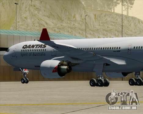 Airbus A330-300 Qantas para as rodas de GTA San Andreas