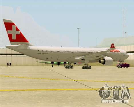 Airbus A330-300 Swiss International Air Lines para GTA San Andreas traseira esquerda vista