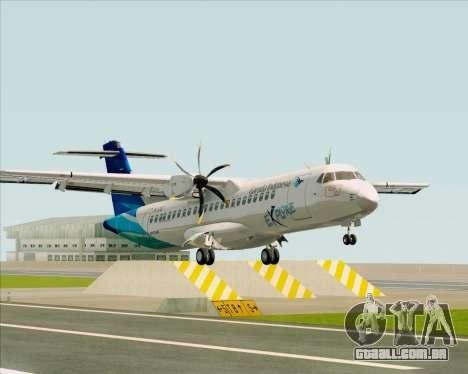 ATR 72-500 Garuda Indonesia Explore para GTA San Andreas esquerda vista