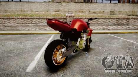 Yamaha FZ6 para GTA 4 traseira esquerda vista
