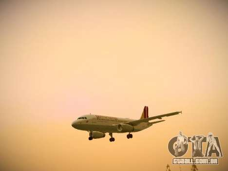Airbus A319-132 Germanwings para GTA San Andreas vista superior