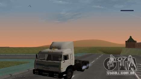 KamAZ-54115 para GTA San Andreas vista traseira