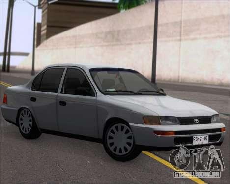 Toyota Corolla 1.6 para GTA San Andreas esquerda vista