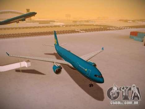 Airbus A330-200 Vietnam Airlines para vista lateral GTA San Andreas