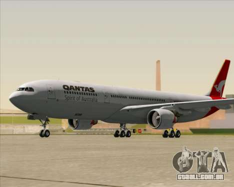 Airbus A330-300 Qantas para GTA San Andreas esquerda vista