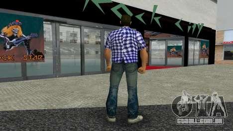 Kockas polo - sotetkek T-Shirt para GTA Vice City terceira tela
