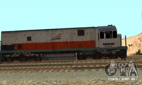 GE U18C CC 201 Indonesian Locomotive para GTA San Andreas esquerda vista